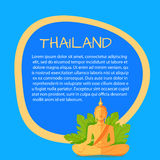 Thailand Vector Touristic Banner with Sample Text Stock Photo