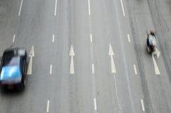Thailand-Verkehr in der Bewegungsunschärfe Lizenzfreies Stockbild