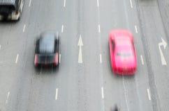 Thailand-Verkehr in der Bewegungsunschärfe Stockfotografie