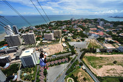 Thailand view of Jomtien and Pattaya bay Stock Photo