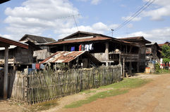 Thailand Village Local Country House Outdoor Royalty Free Stock Photos