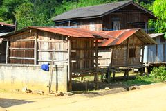 Thailand Village in the mountains.life and houses of traditional Thai people Stock Photos