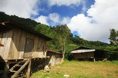 Thailand Village in the mountains.life and houses of traditional Thai people Stock Photo