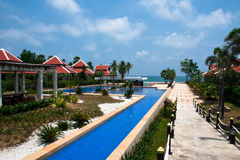Thailand VIP Beach Resort Royalty Free Stock Images