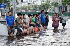 Thailand während seiner falschsten Flut lizenzfreie stockfotografie