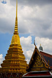 thailand w podeszczowej nieba i kolorów religii mozaice Zdjęcia Stock