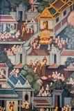 Thailand-Wandgemälde Stockbild