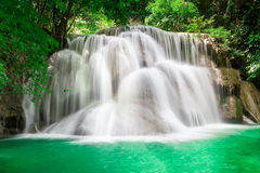 Thailand-Wasserfall in Kanchanaburi Stockbild