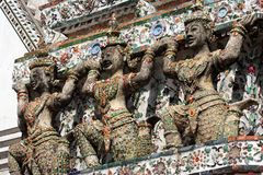 Thailand Wat Arun Sculpture Royalty Free Stock Images