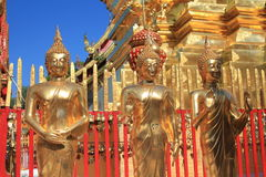 Thailand Wat Phra That Doi Suthep i Chiang Mai Arkivfoto