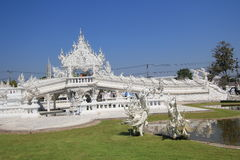 Thailand Wat Rong Khun, weißer Tempel Lizenzfreie Stockbilder