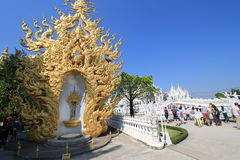 Thailand Wat Rong Khun, Witte Tempel Royalty-vrije Stock Foto