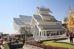 Thailand Wat Rong Khun, Witte Tempel stock fotografie