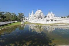 Thailand Wat Rong Khun, Witte Tempel stock foto's