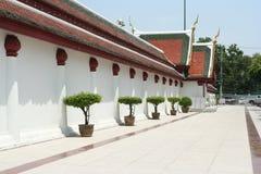 Thailand Wat temple walls. Stock Image