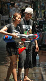Thailand Water Festival 5 Water Gun. Royalty Free Stock Images
