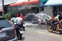 Thailand Water Festival. April 13 every year, the long tradition of Thailand. Songkran or water festival and also the New Year. According to Thai cultur Royalty Free Stock Photos