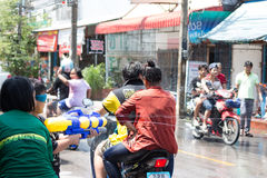 Thailand Water Festival. April 13 every year, the long tradition of Thailand. Songkran or water festival and also the New Year. According to Thai cultur Stock Photography