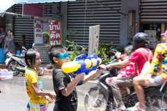 Thailand Water Festival. April 13 every year, the long tradition of Thailand. Songkran or water festival and also the New Year. According to Thai cultur Royalty Free Stock Photo