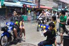 Thailand Water Festival. April 13 every year, the long tradition of Thailand. Songkran or water festival and also the New Year. According to Thai cultur Royalty Free Stock Photography
