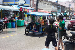Thailand Water Festival. April 13 every year, the long tradition of Thailand. Songkran or water festival and also the New Year. According to Thai cultur Royalty Free Stock Image