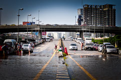 Thailand water flood Stock Images