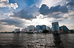 Thailand water flood Royalty Free Stock Photography