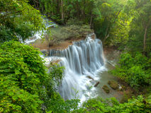 Thailand waterfall. Waterfall in forest of Thailand royalty free stock image