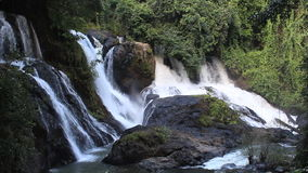 Thailand waterfall in Jungle stock video footage