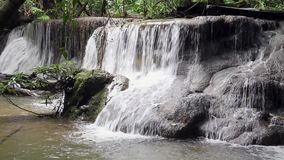 Thailand waterfall in Kanchanaburi stock video footage
