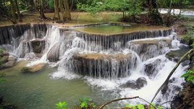 Thailand waterfall in Kanchanaburi stock video