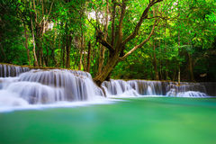 Thailand waterfall in Kanjanaburi Royalty Free Stock Photo
