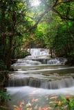 Thailand waterfall in Kanjanaburi Royalty Free Stock Image