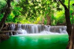 Thailand waterfall in Kanjanaburi Royalty Free Stock Images