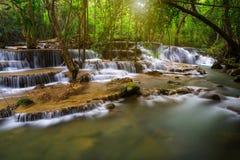 Thailand waterfall in Kanjanaburi Stock Image