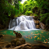 Thailand waterfall in Kanjanaburi nature background Royalty Free Stock Images