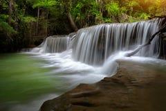 Thailand waterfall nature in Kanjanaburi Royalty Free Stock Photo