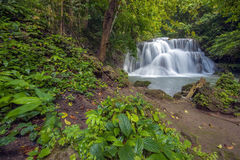 Thailand waterfalls. Beautiful waterfalls in west of Thailand stock image