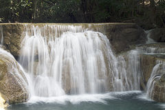 Thailand waterfalls  kanchanaburi in the middle of the forest Royalty Free Stock Photo