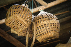 Thailand wicker. Wicker is regarded as a sect in crafting and craft galleries. That serves the humanity for thousands of years Royalty Free Stock Image