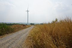 Thailand wind farm stock photography