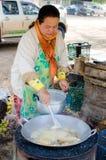 Thailand women are fried banana. Stock Photography