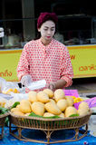 Thailand women selling mangoes Royalty Free Stock Images