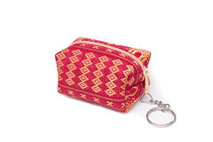 Thailand women wallet on a white background Royalty Free Stock Images