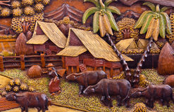 Thailand wood carving Stock Photo