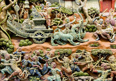 Thailand wood carving art Stock Photography