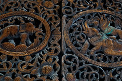 Thailand wood carving royalty free stock images