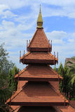 Thailand Wood Roof. In garden Stock Photography
