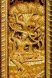 Thailand wood Sculpture ancient art Royalty Free Stock Photos