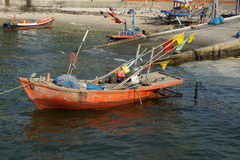Thailand Wooden fishing boat Royalty Free Stock Photography